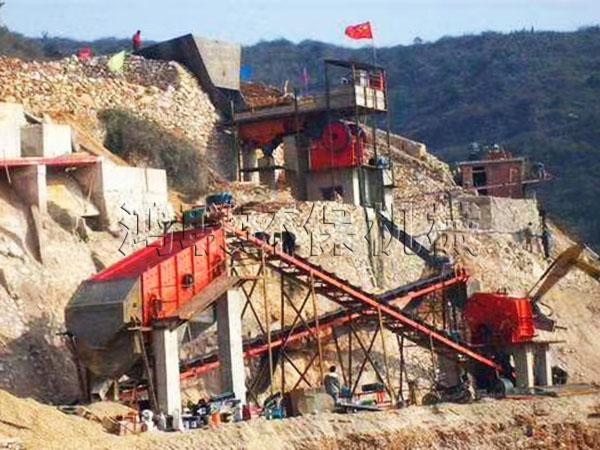 移动式河卵石制砂生产线